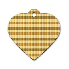 Pattern Grid Squares Texture Dog Tag Heart (Two Sides)