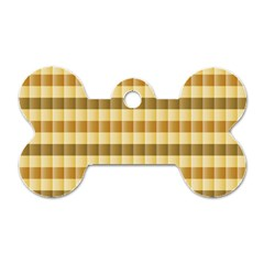 Pattern Grid Squares Texture Dog Tag Bone (one Side)