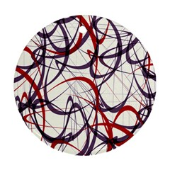 Purple Red Round Ornament (Two Sides)