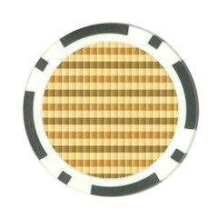 Pattern Grid Squares Texture Poker Chip Card Guard
