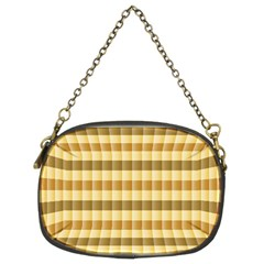 Pattern Grid Squares Texture Chain Purses (Two Sides)