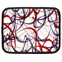 Purple Red Netbook Case (Large)