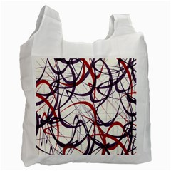 Purple Red Recycle Bag (One Side)