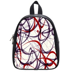 Purple Red School Bags (Small)