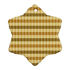Pattern Grid Squares Texture Snowflake Ornament (Two Sides)