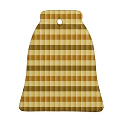 Pattern Grid Squares Texture Bell Ornament (Two Sides)
