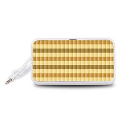 Pattern Grid Squares Texture Portable Speaker (White)
