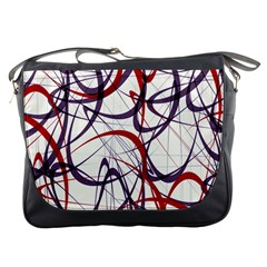 Purple Red Messenger Bags