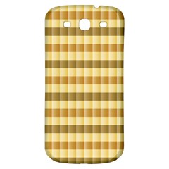 Pattern Grid Squares Texture Samsung Galaxy S3 S III Classic Hardshell Back Case