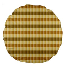 Pattern Grid Squares Texture Large 18  Premium Round Cushions