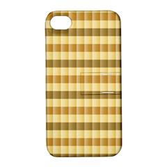 Pattern Grid Squares Texture Apple iPhone 4/4S Hardshell Case with Stand