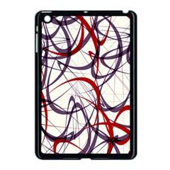 Purple Red Apple iPad Mini Case (Black)