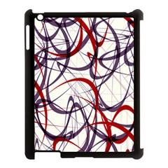 Purple Red Apple iPad 3/4 Case (Black)