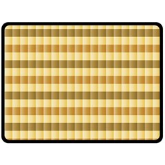 Pattern Grid Squares Texture Double Sided Fleece Blanket (Large)