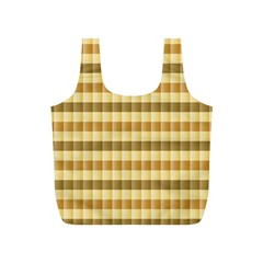 Pattern Grid Squares Texture Full Print Recycle Bags (S)