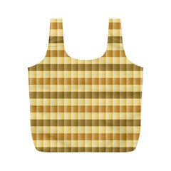 Pattern Grid Squares Texture Full Print Recycle Bags (M)