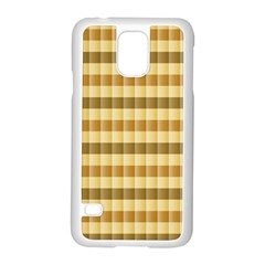 Pattern Grid Squares Texture Samsung Galaxy S5 Case (White)