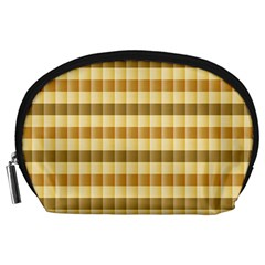 Pattern Grid Squares Texture Accessory Pouches (Large)
