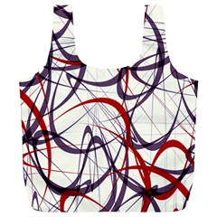 Purple Red Full Print Recycle Bags (L)