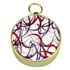 Purple Red Gold Compasses