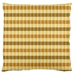 Pattern Grid Squares Texture Large Flano Cushion Case (One Side)