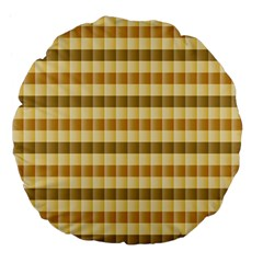 Pattern Grid Squares Texture Large 18  Premium Flano Round Cushions