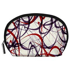 Purple Red Accessory Pouches (Large)