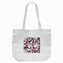 Purple Red Tote Bag (White)