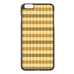 Pattern Grid Squares Texture Apple iPhone 6 Plus/6S Plus Black Enamel Case
