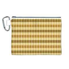 Pattern Grid Squares Texture Canvas Cosmetic Bag (L)