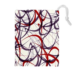 Purple Red Drawstring Pouches (Extra Large)