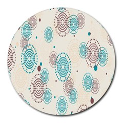 Small Circle Blue Brown Round Mousepads