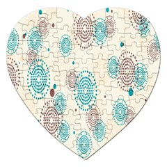 Small Circle Blue Brown Jigsaw Puzzle (Heart)