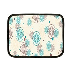 Small Circle Blue Brown Netbook Case (Small)