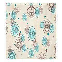 Small Circle Blue Brown Shower Curtain 66  x 72  (Large)