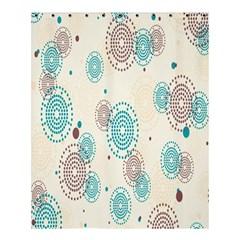 Small Circle Blue Brown Shower Curtain 60  x 72  (Medium)