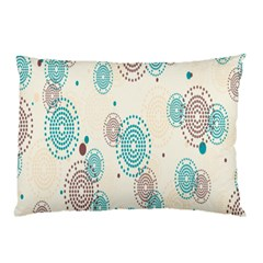 Small Circle Blue Brown Pillow Case (Two Sides)