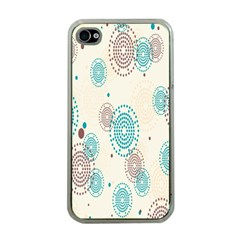 Small Circle Blue Brown Apple Iphone 4 Case (clear)