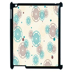 Small Circle Blue Brown Apple iPad 2 Case (Black)