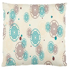 Small Circle Blue Brown Large Cushion Case (One Side)