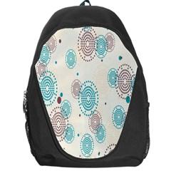 Small Circle Blue Brown Backpack Bag