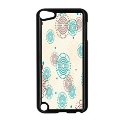 Small Circle Blue Brown Apple iPod Touch 5 Case (Black)