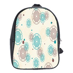 Small Circle Blue Brown School Bags (XL)