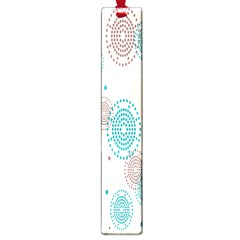 Small Circle Blue Brown Large Book Marks