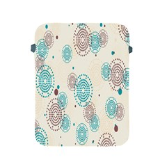 Small Circle Blue Brown Apple iPad 2/3/4 Protective Soft Cases