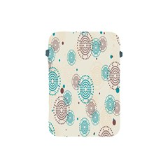 Small Circle Blue Brown Apple iPad Mini Protective Soft Cases