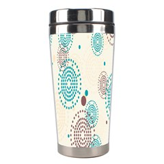 Small Circle Blue Brown Stainless Steel Travel Tumblers