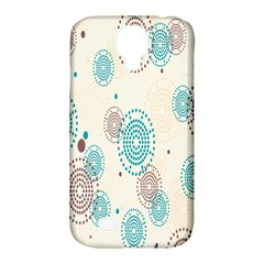 Small Circle Blue Brown Samsung Galaxy S4 Classic Hardshell Case (PC+Silicone)