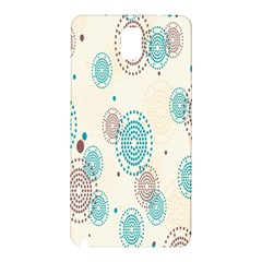 Small Circle Blue Brown Samsung Galaxy Note 3 N9005 Hardshell Back Case