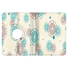 Small Circle Blue Brown Kindle Fire HDX Flip 360 Case
